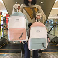 2019 do sexo feminino de alta qualidade lona mochila viagem feminina bolsa feminina saco a dos volta sacos escola para adolescente