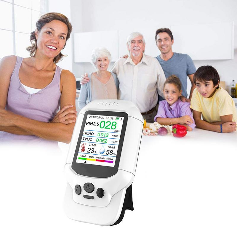 Air Qualité Détecteur Compteur Moniteur avec LCD système opérateur pour Intérieur Formaldéhyde HCHO PM1.0 PM2.5 PM10 TCOV