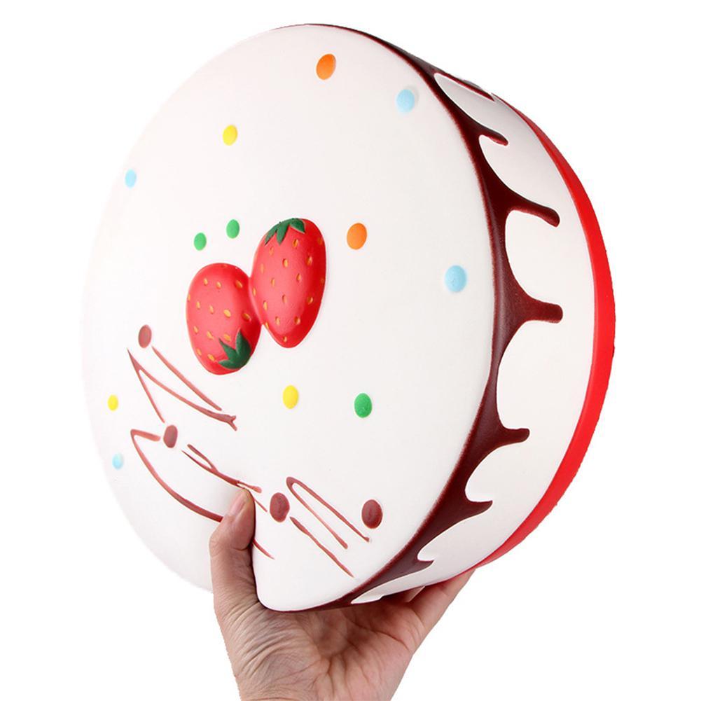 RCtown Round Cream Mousse Cake Shape Anti Stress Squishy Toy