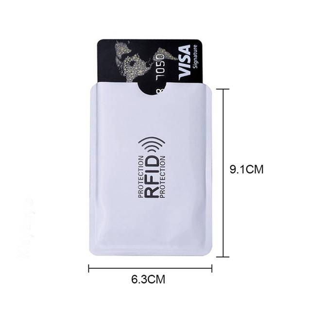 CSS 10pcs aluminum foil anti-degaussing card cover RFID shielding bag NFC  credit card anti-theft brush ID card protector