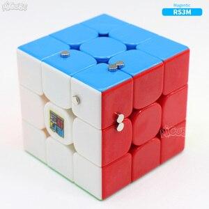 Image 3 - مكعب مغناطيسي 3x3 من Moyu طراز RS3 RS3M مكعب سرعة سحري 3x3x3 لغز Cubo Magico 3x3 Mf 3RS V3 MF3RS ألعاب Cubetoys منتظمة للأطفال