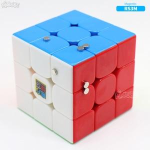 Image 3 - Магнитный куб Moyu RS3 RS3M 3x3 магический скоростной куб 3x3 Magico 3x3 головоломка Mf 3RS V3 MF3RS обычные кубики для детей