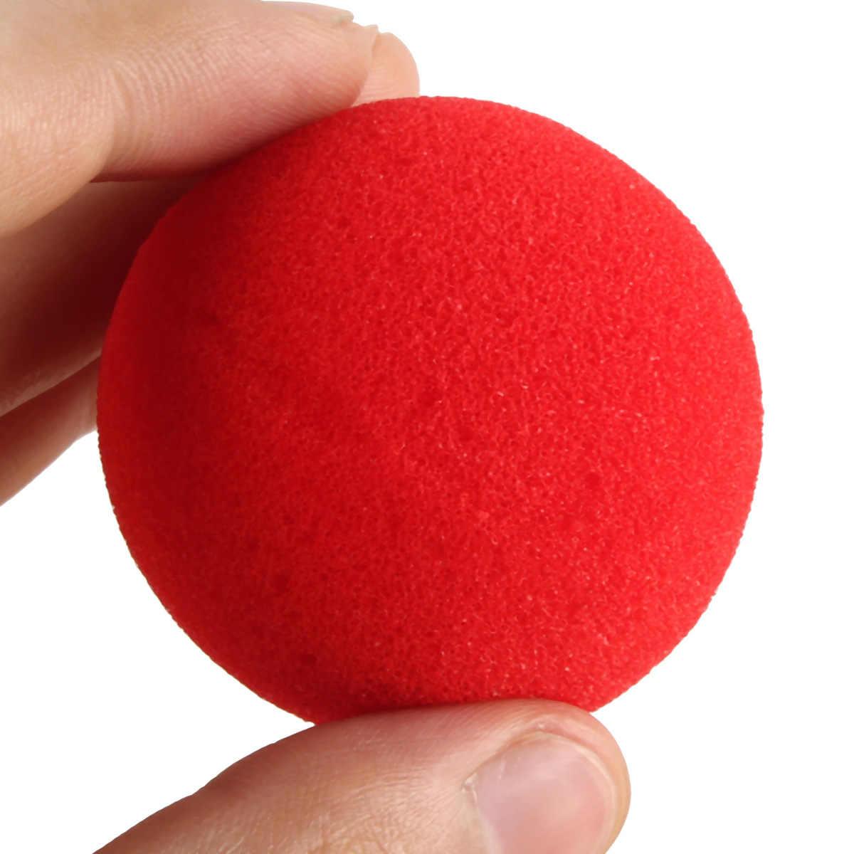4.5cm grandes éponges 5/10/30 pièces éponge rouge balles accessoires drôles accessoires magiques Clown nez tours jouets