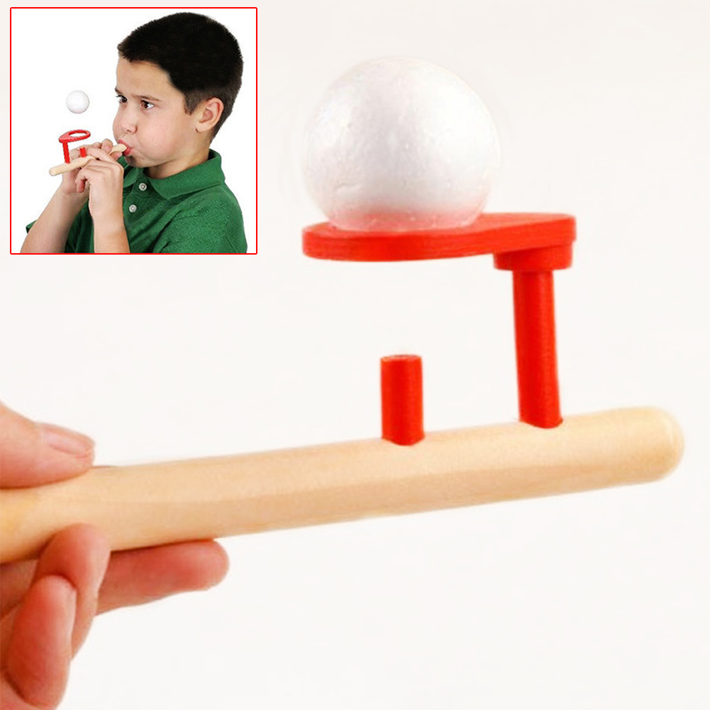 Yvonne Classic Wooden Games Floating Blow  & Balls Blowing Toys Nostalgic Gadgets For Kid Children Baby Toddler Toys