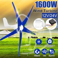 1600W Wind for Turbine Generator 3/5 12/24V Wind Blades OptionWind Controller Gift Fit for Home +Mounting accessories bag