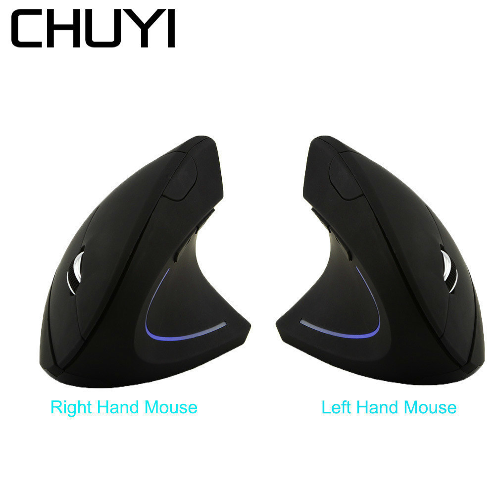 Chuyi Ergonomic Vertical Mouse Wireless Right/left Handed Computer Gaming Mice 5d Usb Optical 1600dpi Led Mause Souris Gamer