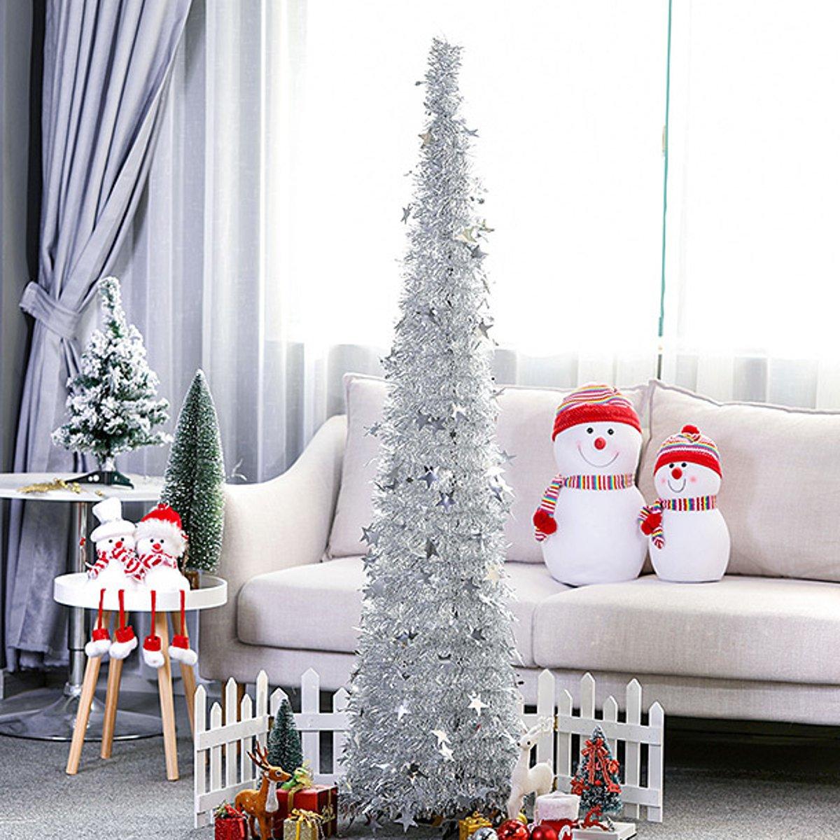 Aliexpress.com : Buy DIY 5ft/1.5M Tinsel Christmas Tree Foldable Retractable Indoor Outdoor Tree ...