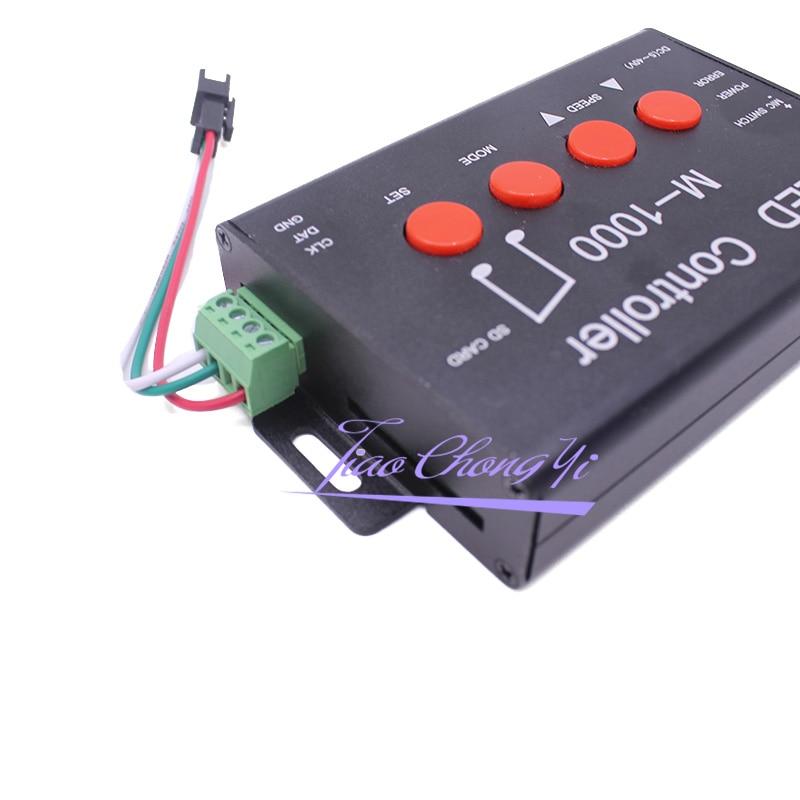 M 1000 Controlador de LED, Programável Levou Controlador de Música 2048 Pixel para WS2812B WS2811 WS2801 SK6812 levou iluminação de tira - 5