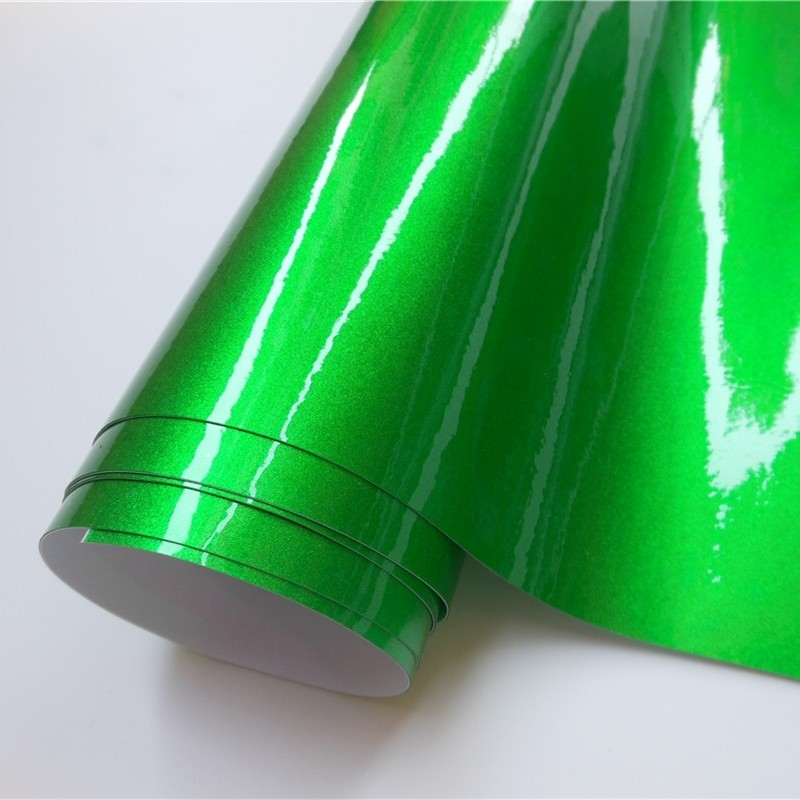 Ultra Apple Green Glossy Metallic Vinyl Wrap Car Wrapping Film Foil Vehicle Sticker Decal Motor Computer Furniture Auto Graphic(China)