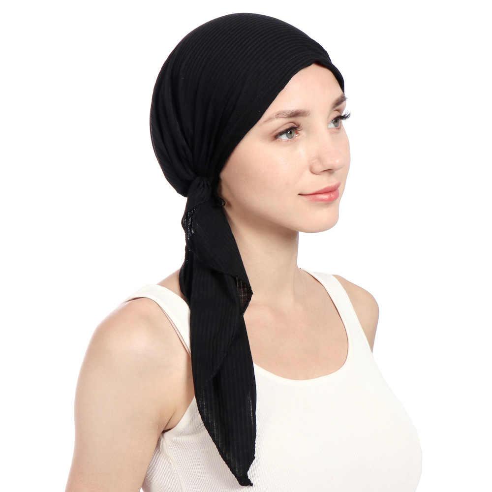 2a477c5c227 ... New Women Fashion Muslim Turban Hats Indian Caps Wrap Cap Women Hijabs  Hats for Women Hijab