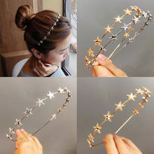 Summer seaside hair accessories butterfly stars design headband Gold Plated hairband metal headdress women wedding Hair Jewelry(China)