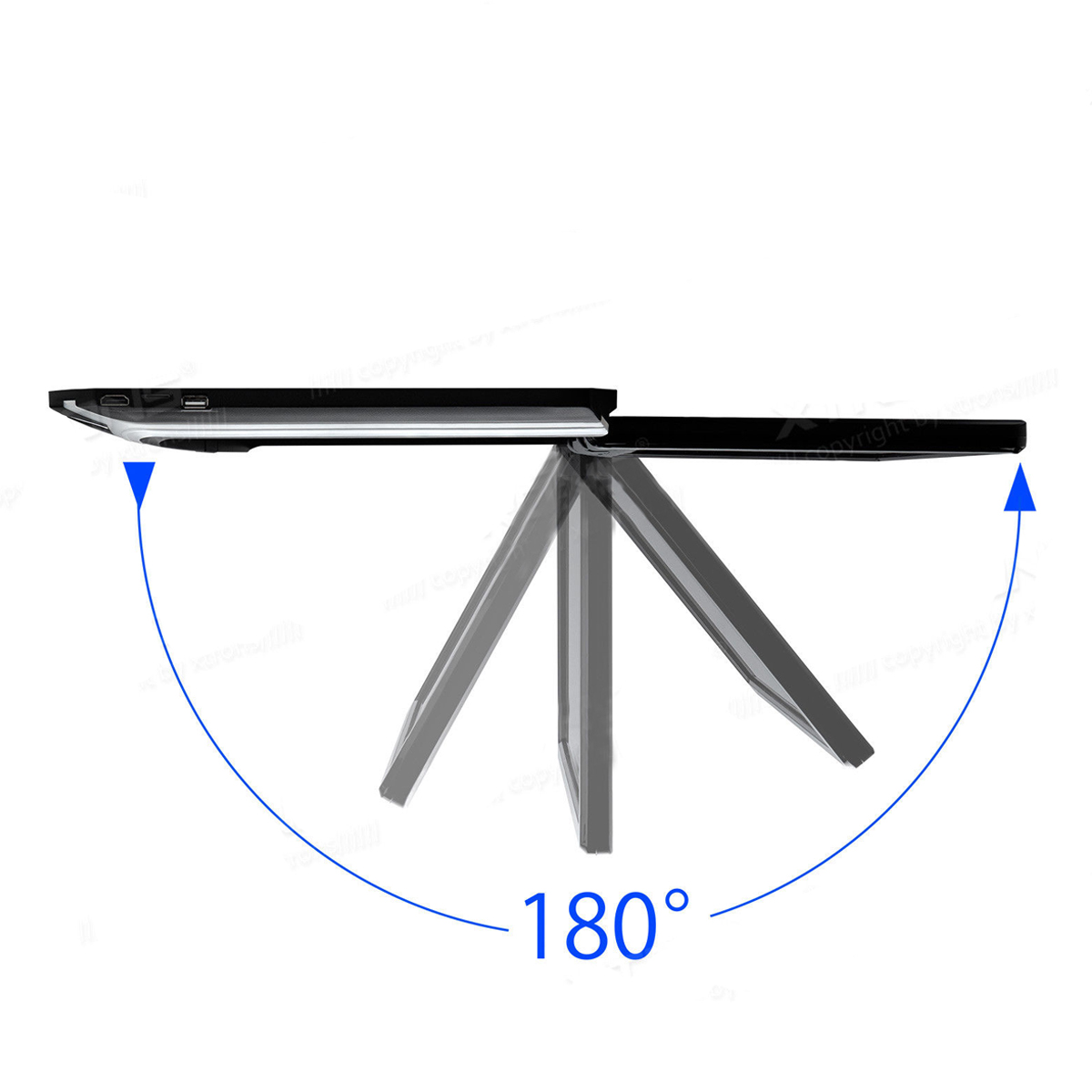 Reproductor de DVD de pantalla ancha HD de 15,6 pulgadas para coche, reproductor de montaje en techo de coche HDMI abatible hacia abajo para Monitor 1920*1080 - 4