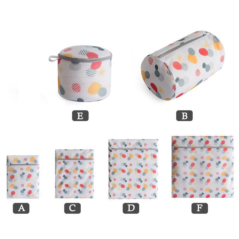 Laundry Bag Polyester Washing Machine Mesh Bag Thickened Bra Underwear Laundry Bag With Zipper Household Laundry Storage