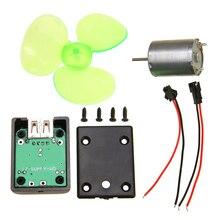 1 комплект Мини Ветер мощность генератора переменного тока DIY комплекты мини генератор ветра двигатель ветровой турбины портативный аварийный телефон зарядное устройство