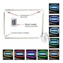 DC 5V USB 1M/2M/3M LED Strip 5050 SMD RGB Tape Stripe With 24 keys Music Remote For TV Background Lighting Light