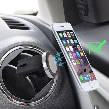 Car air outlet mobile phone bracket magnetic steering wheel mobile phone holder car supplies magnet universal mobile phone holde steering wheel phone holder