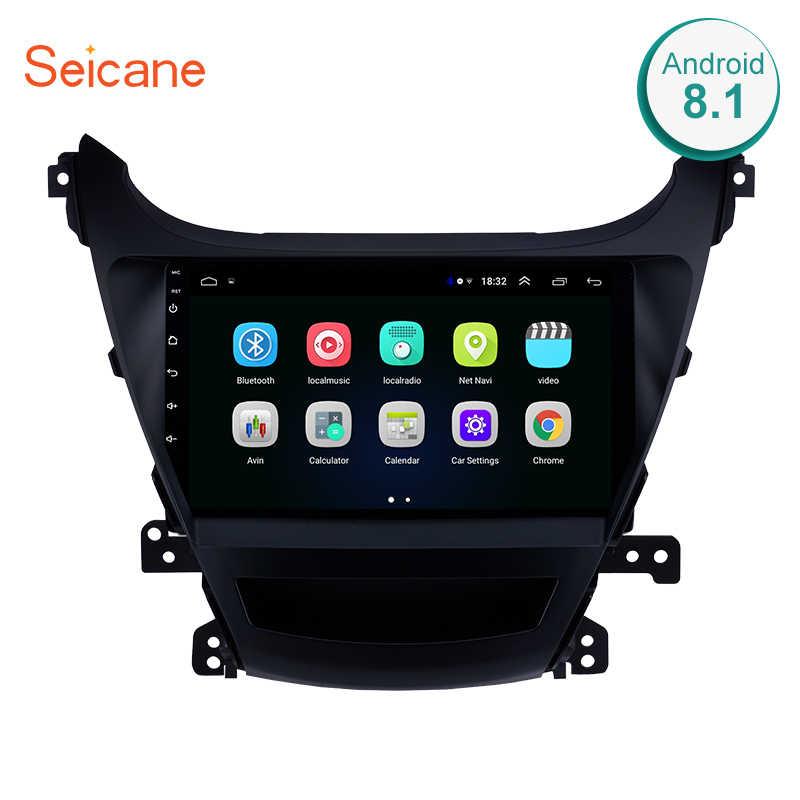 """Seicane 9 """"2din アンドロイド 8.1 Gps 2014-2016Hyundai ためエラントラ HD タッチスクリーン無線 Lan マルチメディアプレーヤーのヘッドユニット"""