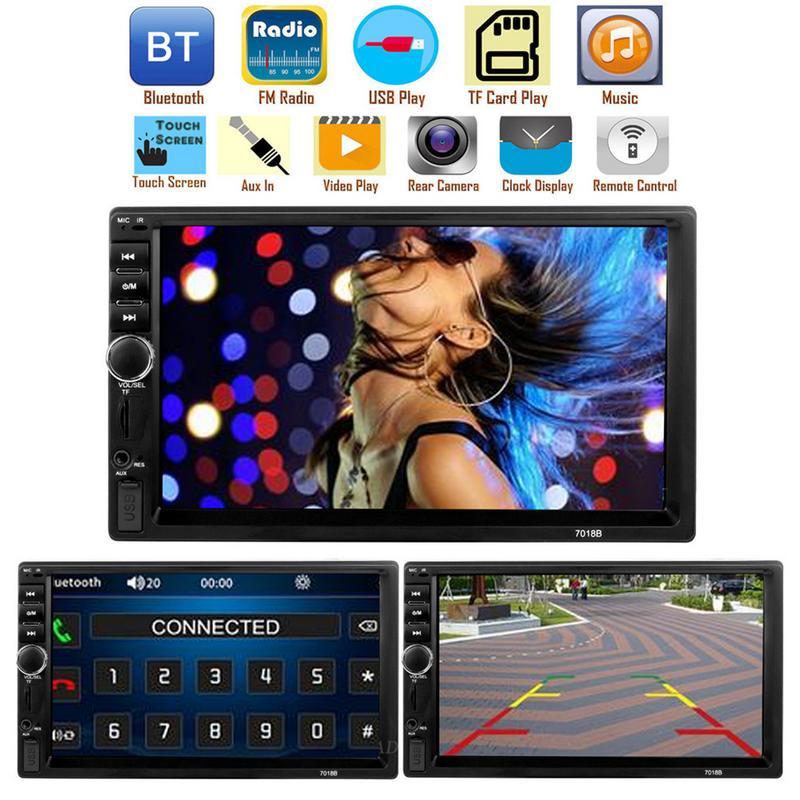 Lecteur de voiture 7 pouces tactile Bluetooth stéréo Radio voiture double lingot MP5 lecteur de carte peut être connecté à l'image inverse