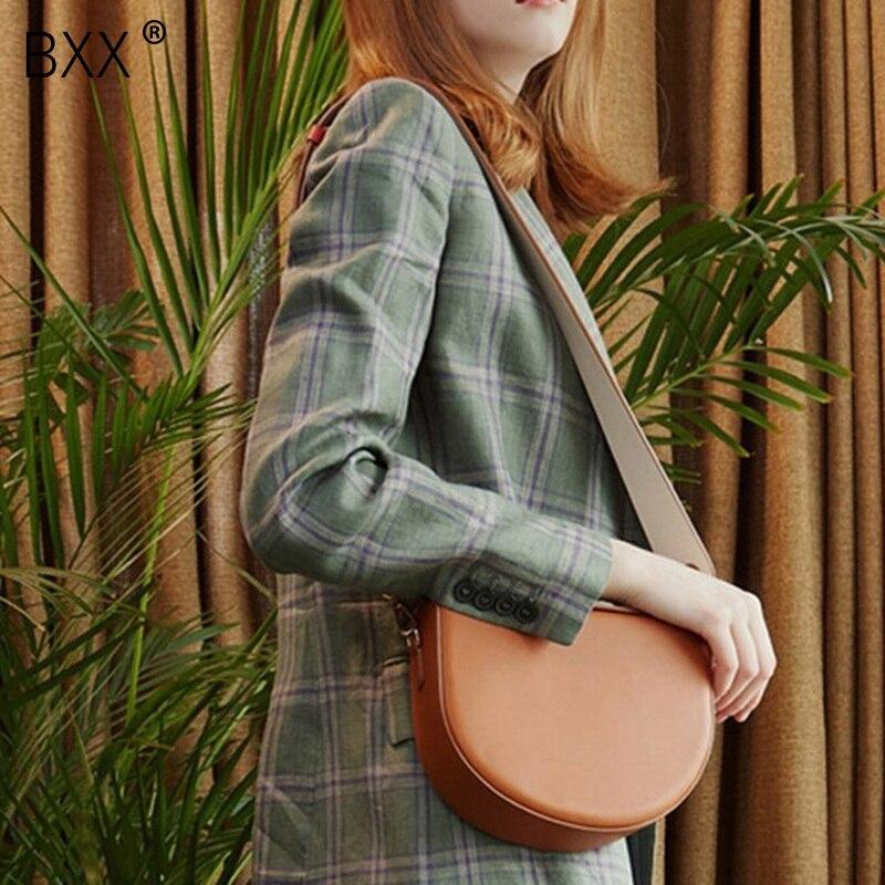 2019 Frühling Sommer Frau Stilvolle Hit Farbe Einzigen Gurt Pu Leder Sattel Halbkreis Form Schulter Messenger Tasche Lm68 Damentaschen bxx