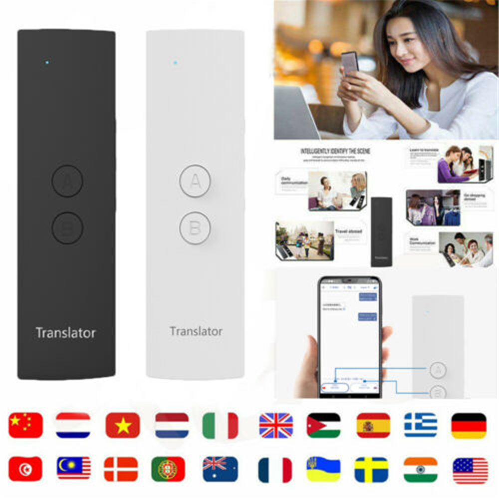 T6 Easy Trans Smart Language Instant Voice Speech By 28 Languages APP Translator Portable Wireless 2-Way Real Time Instant VoiceT6 Easy Trans Smart Language Instant Voice Speech By 28 Languages APP Translator Portable Wireless 2-Way Real Time Instant Voice