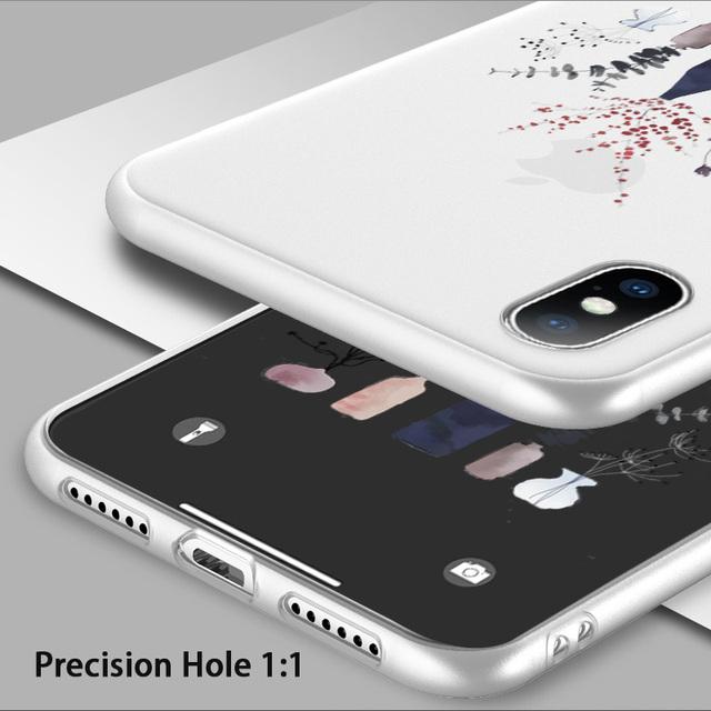 Matte Floral Pattern Phone Case