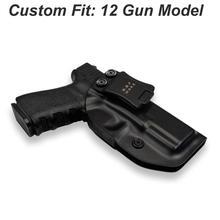 IWB/OWB ยุทธวิธี KYDEX ปืน HOLSTER Glock 19 Glock 17 25 26 27 28 31 32 33 43 ภายในปกปิดพกพาปืนพกอุปกรณ์เสริมกระเป๋า