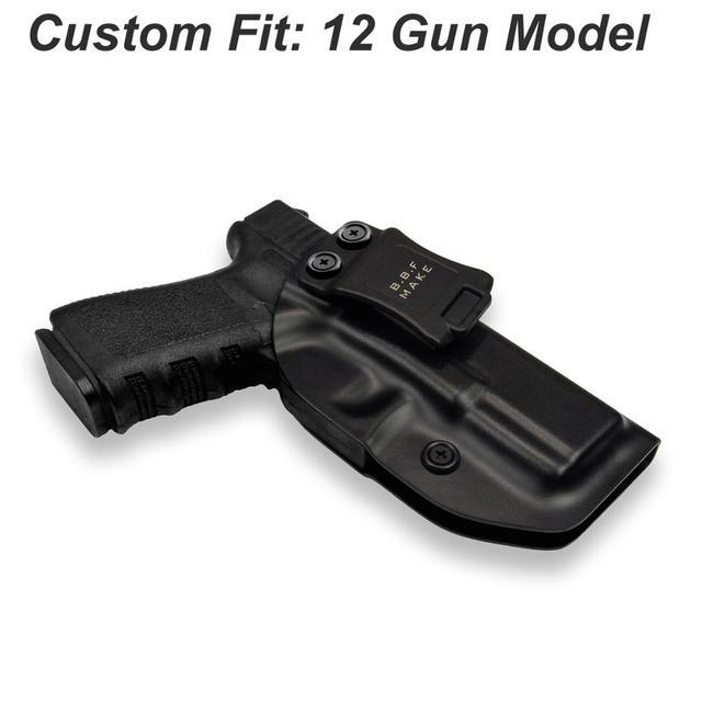 IWB/OWB funda para pistola táctica KYDEX Glock 19 Glock 17 25 26 27 28 31 32 33 43 interior oculta, funda para pistola, accesorios, bolsa