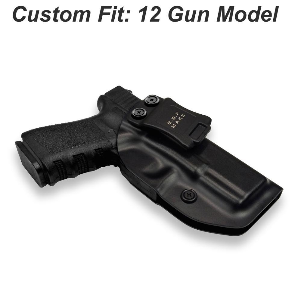 Iwb/owb tático kydex arma coldre glock 19 17 25 26 27 28 31 32 33 43 dentro escondido levar caso pistola acessórios saco
