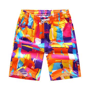 Męskie spodnie plażowe szybkie suszenie spodenki plażowe pływanie Surfing żeglarstwo sporty wodne pnie oddychające luźne stroje kąpielowe szorty tanie i dobre opinie Szybkie suche Drukuj Poliester swimming shorts Pasuje prawda na wymiar weź swój normalny rozmiar