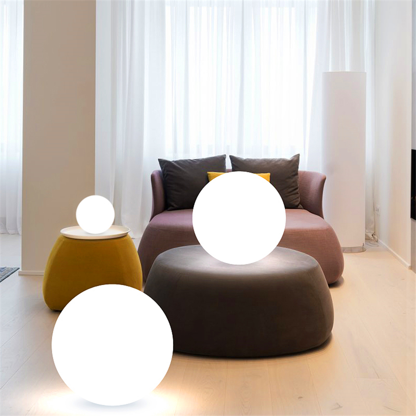 Nordic LED Floor Lights Ball PVC Floor Lamps Home Decor Standing Lamp Bedroom Bedside Remote Charging Living Room Standing Lamp