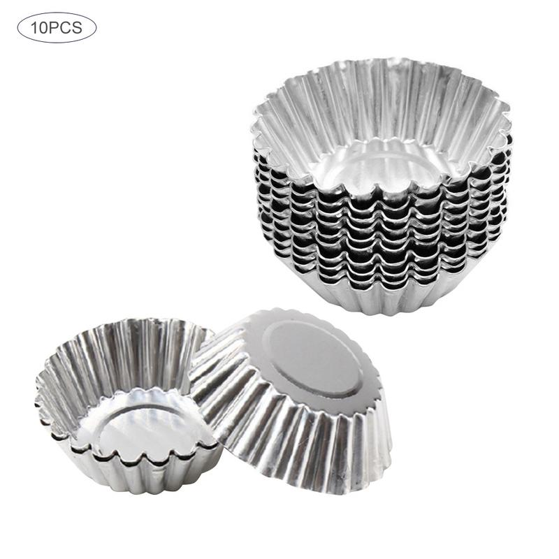 Image 5 - 5/10/20pcs Egg Tart Molds Stainless Steel Cupcake Mold Thickened Reusable Cake Cookie Mold Tin Baking Tool Baking Cups-in Cake Molds from Home & Garden