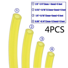 4pcs Tygon Petrol Fuel Gas Line Pipe Hose Tube  for chainsaws, blowers, pressure washers, trimmers Tools