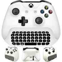 Pour Xbox One S Chatpad Mini clavier de jeu clavier de Message de Chat sans fil avec prise Audio/casque pour Xbox One Elite et Gam mince
