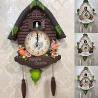 Cute Bird Wall Clock Cuckoo Alarm Clock Cuckoo Clock Living Room Watch Brief Children Bedroom Decor Home Day Time Alarm Clocks