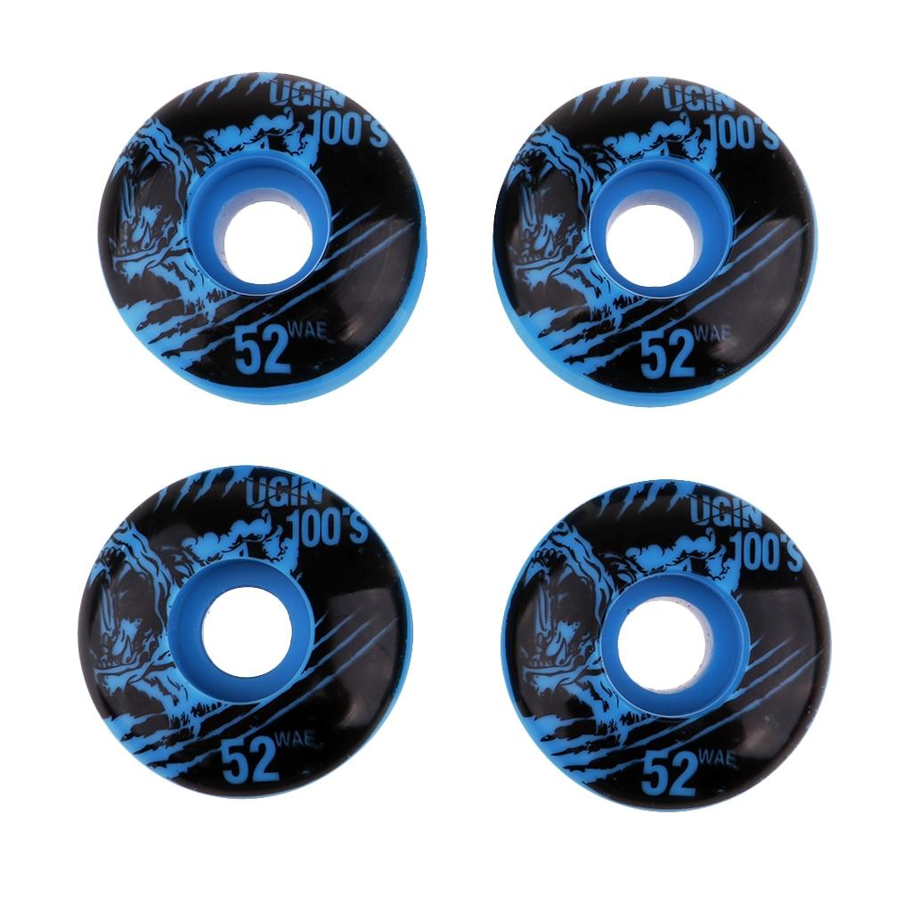 MagiDeal 4Pcs High Quality 4pcs/set 52x30mm Skateboard Wheels Durable PU Wheels PU Skateboard Wheels