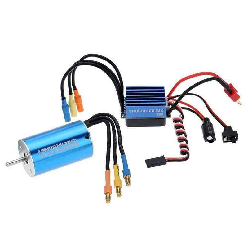 2845 3930KV 4P Motor sin escobillas sin sensor y 35A sin escobillas ESC controlador electrónico de velocidad para 1/14 1/16 1/18 RC coche (2845 3930