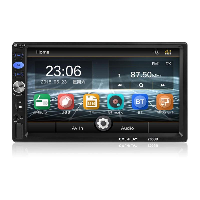 VODOOL 2Din 7inch Car Radio Touch Screen Car Stereo MP5 Player With Rear View Camera Auto FM Radio Bluetooth USB Head Unit
