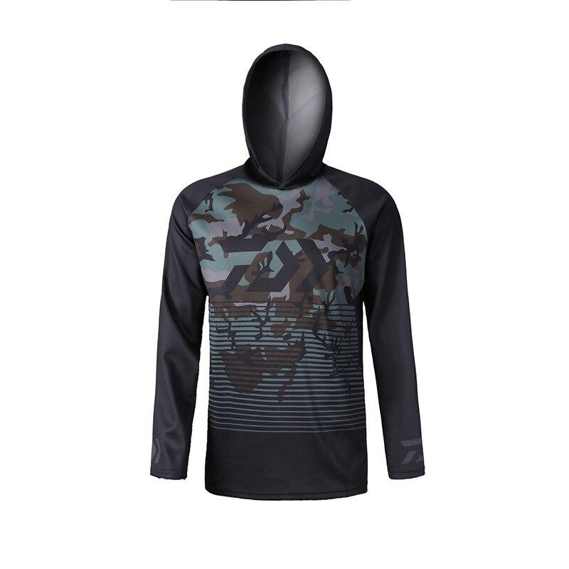 100% Wahr 2018 Männer Wandern Kleidung Angeln Kleidung Atmungsaktiv Sonnencreme Shirt Männer Schnell Trocknend Upf 50 + Lange Hülse Mit Kapuze Angeln Shirts