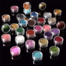 30pcs Mixed Colors Powder Pigment Glitter Mineral Spangle Eyeshadow Makeup Cosme