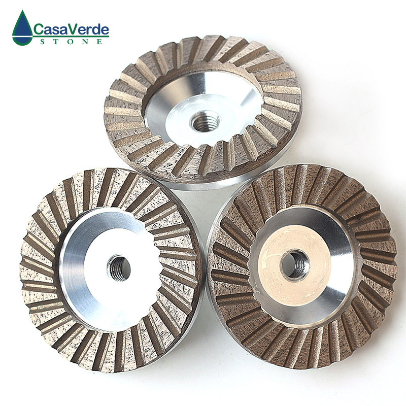 DC-ACW 3pcs/set Diameter 100mm (4 Inch)  Aluminum Backer Diamond Cup Wheels For Grinding Stone