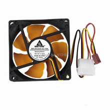 2PCS Silent Cooler 12V 80mm x 80mm x 25mm 8cm DC Brushless Cooling Exhaust Fan 8025S цена и фото
