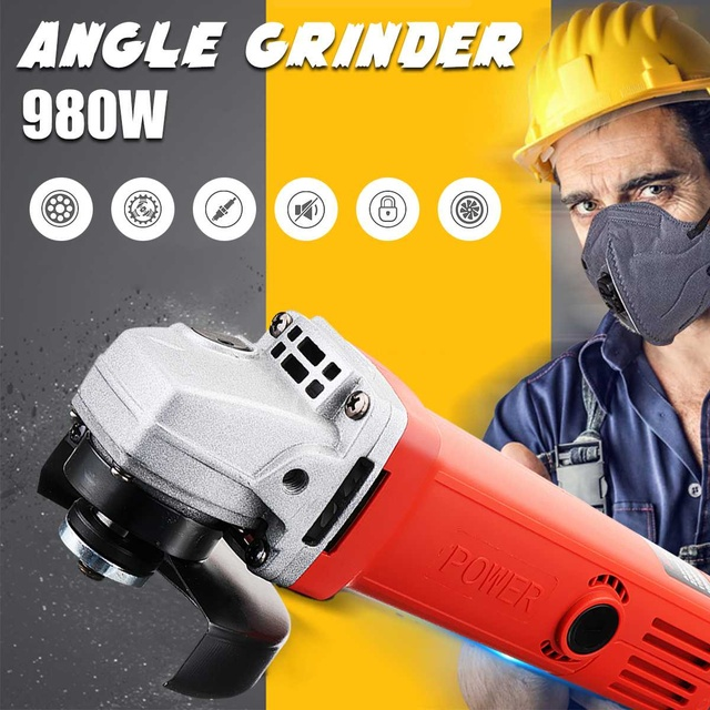 220V/50Hz 980W 11000r/min Protable Electric Angle Grinder Muti-Function Cutting Polishing Tools Hand Grinding