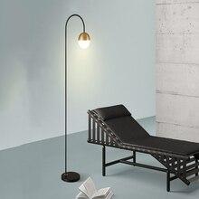 Modern LED Floor Lamp New Style Study Rose Golden Black Post-modern Creative Vertical Light Restaurant Standing Lighting