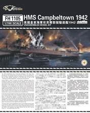Flyhawk 1105 1/700 HMS Destroyer Campbeltown 1942 top quality