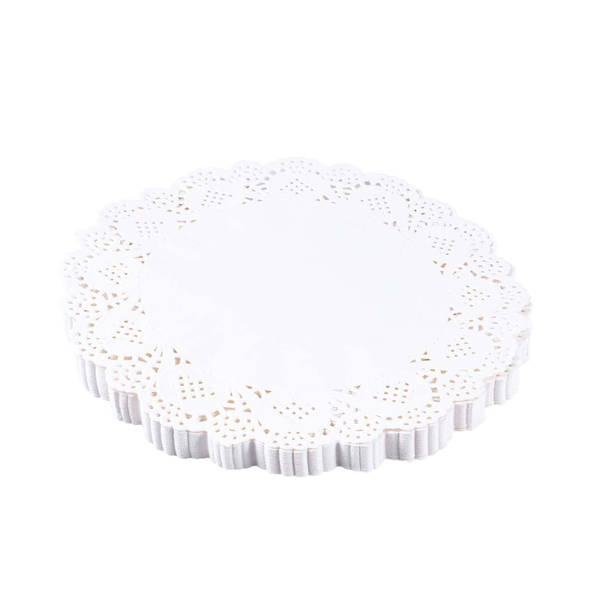 140 pcs paper placemats round lace flower pattern paper doilies cake packaging pads for cakes