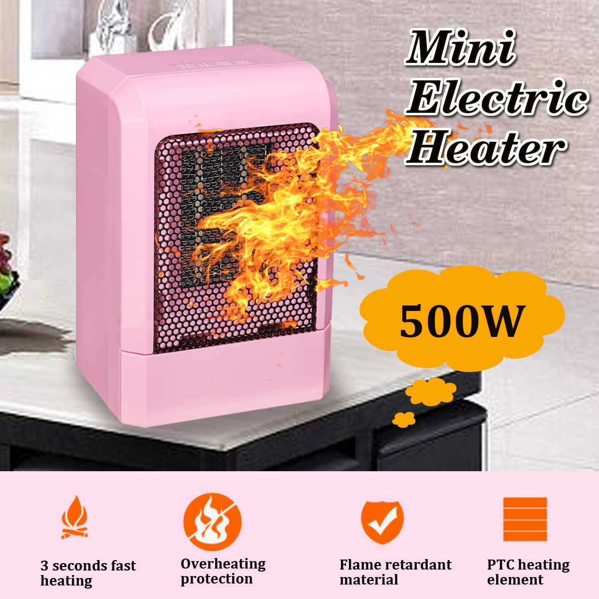 Aliexpress Com Buy 500w 220v Electric Heater Fan Mini