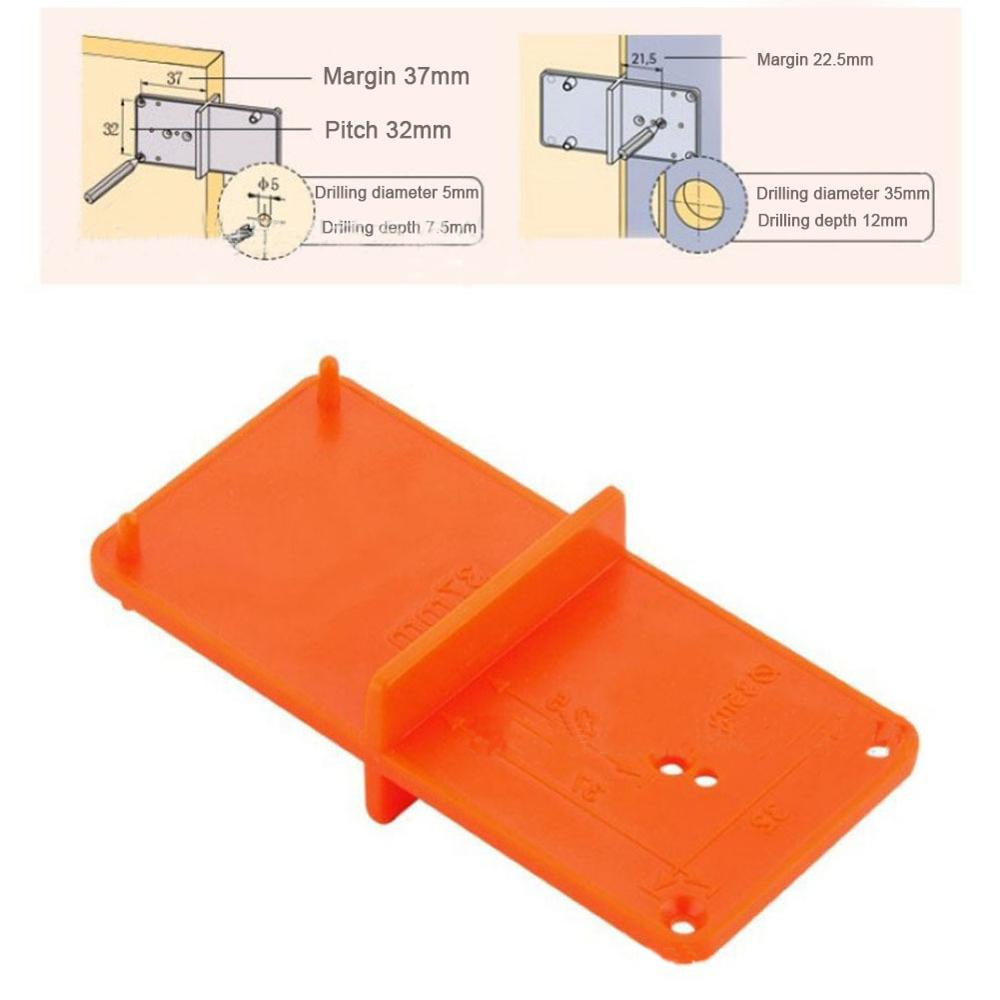 Hinge Hole Drill Guide 35mm/40mm Hole Locator Opener template Door Cabinets DIY Tool For Woodworking tool                      Hinge Hole Drill Guide 35mm/40mm Hole Locator Opener template Door Cabinets DIY Tool For Woodworking tool