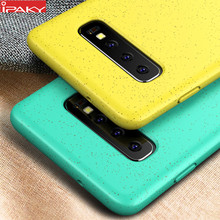 for Samsung S10 Case IPAKY Liquid Silicone Soft Case S10e Shell Gel Shockproof Case Cover for Samsung Galaxy S10 Plus Case(China)