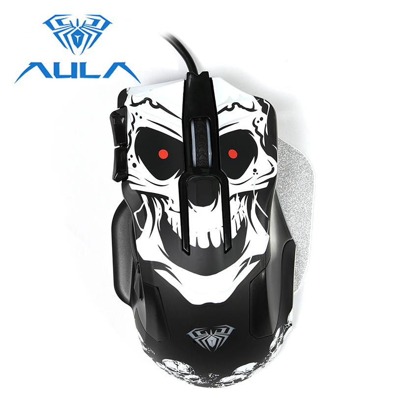 AULA Gaming Mouse RGB Backlight Wired 10 Keys Programmable 8200 DPI Ergonomic Design for PC Computer