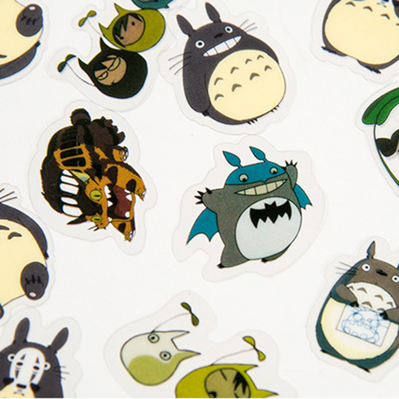 60Pcs/Bag Cute Totoro Stickers PVC Adhesives Stickers Kids Stickers For Diary Decorative Scrapbooking DIY Photo Album Supplies60Pcs/Bag Cute Totoro Stickers PVC Adhesives Stickers Kids Stickers For Diary Decorative Scrapbooking DIY Photo Album Supplies